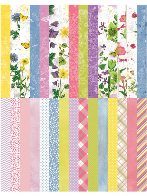 Floral Flourish  by Katie Pertiet Pocket Border Strips