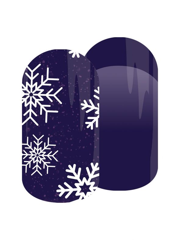 Snow Crystals - Nail Lacquer Strips